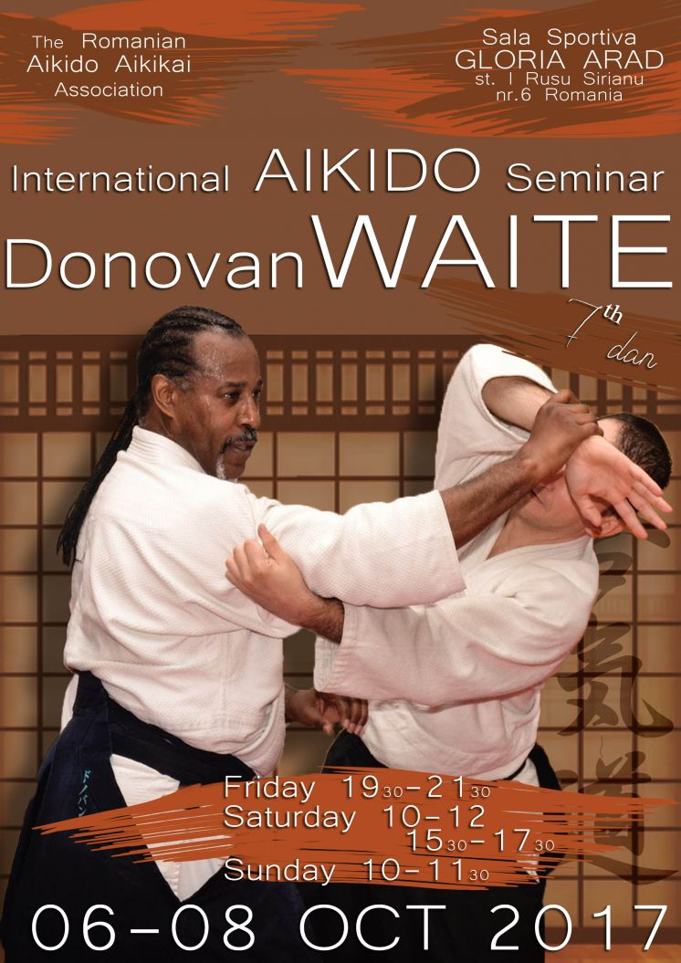 Seminar international Arad, 6-8 Octombrie,  Sensei Donovan Waite