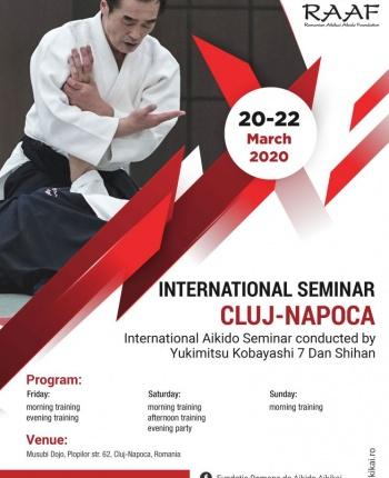 20-22 martie 2020 seminar international cu shihan Yukimitsu Kobayashi, Cluj-Napoca